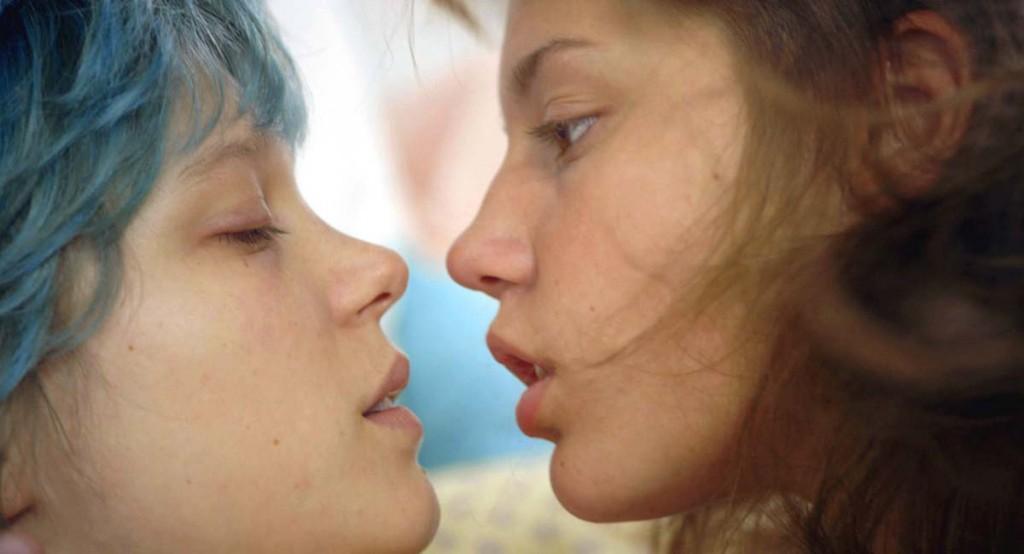 Blaue lesbische Sexszene