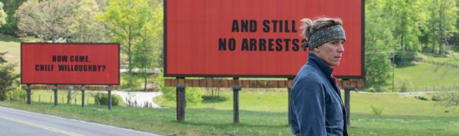 Drei Gedanken zu: THREE BILLBOARDS OUTSIDE EBBING, MISSOURI