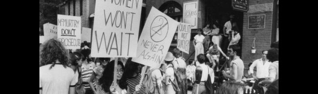 Frauenrechtsdemo in den 80ern, Kanada